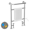 Savoy Traditional Towel Rail (Inc. Valves + Electric Heating Kit) profile small image view 1
