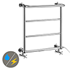 Maine 642 x 720mm Traditional Towel Rail (Inc. Valves + Electric Heating Kit) profile small image view 1
