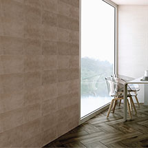 Eris Brown Porcelain Wall and Floor Tile - 250 x 500mm Medium Image