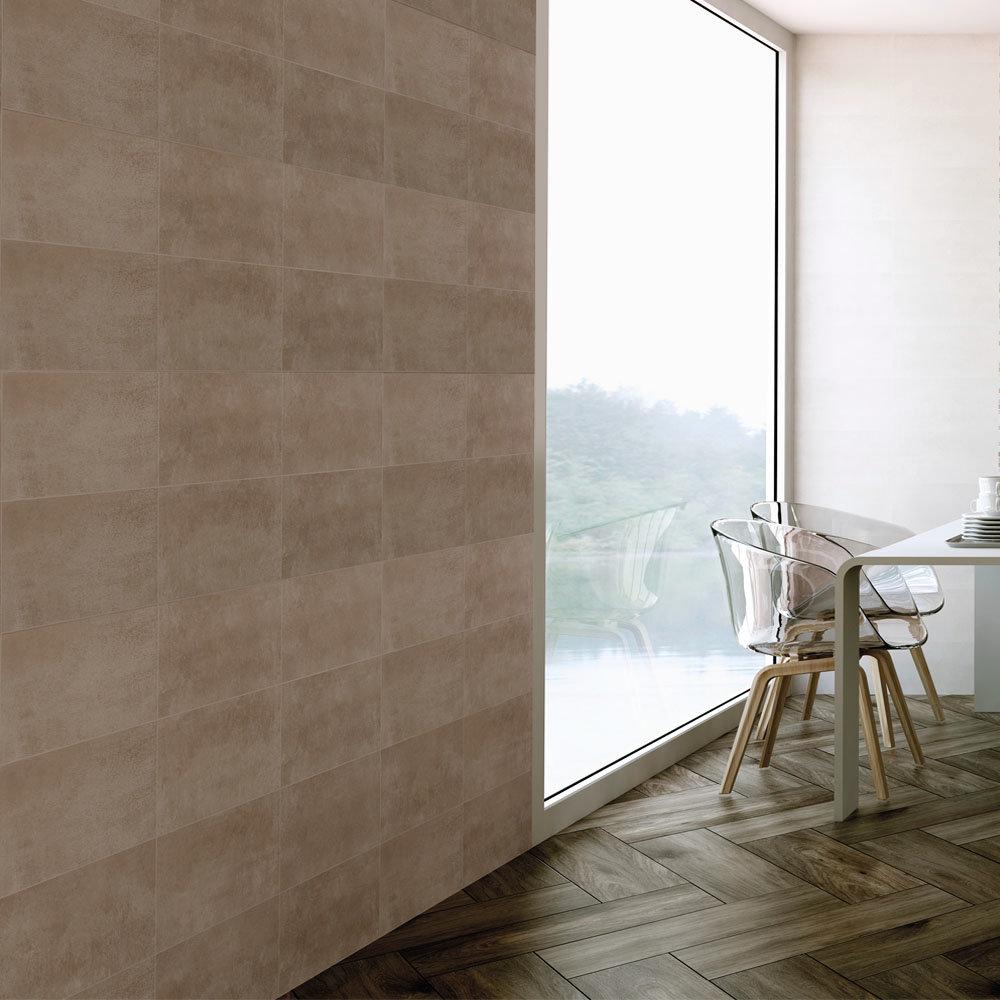 Eris Brown Porcelain Wall Tile - 250 x 500mm