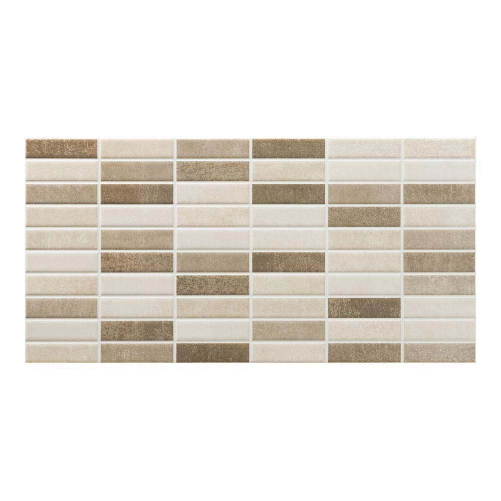 Eris Brown Porcelain Mosaic Wall and Floor Tile - 250 x 500mm  Profile Large Image