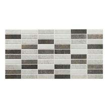 Eris Graphite Porcelain Mosaic Wall and Floor Tile - 250 x 500mm Medium Image