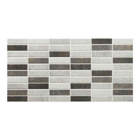 Eris Graphite Porcelain Mosaic Wall and Floor Tile - 250 x 500mm