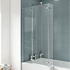 Ella 1400 Square Hinged Bath Screen - ERSBS0 profile small image view 1