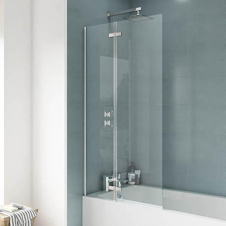 Ella 1400 Straight Hinged Bath Screen