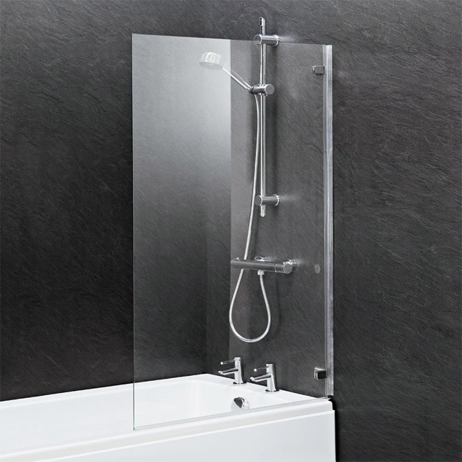 Ella 1400 Hinged Square Bath Screen - ERSSQ profile large image view 2
