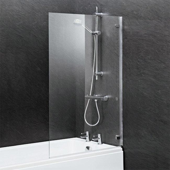 Ella 1400 Hinged Square Bath Screen - ERSSQ Profile Large Image