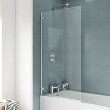 Ella 1400 Hinged Square Bath Screen - ERSSQ Medium Image