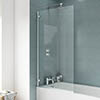 Ella 1400 Hinged Square Bath Screen - ERSSQ Small Image