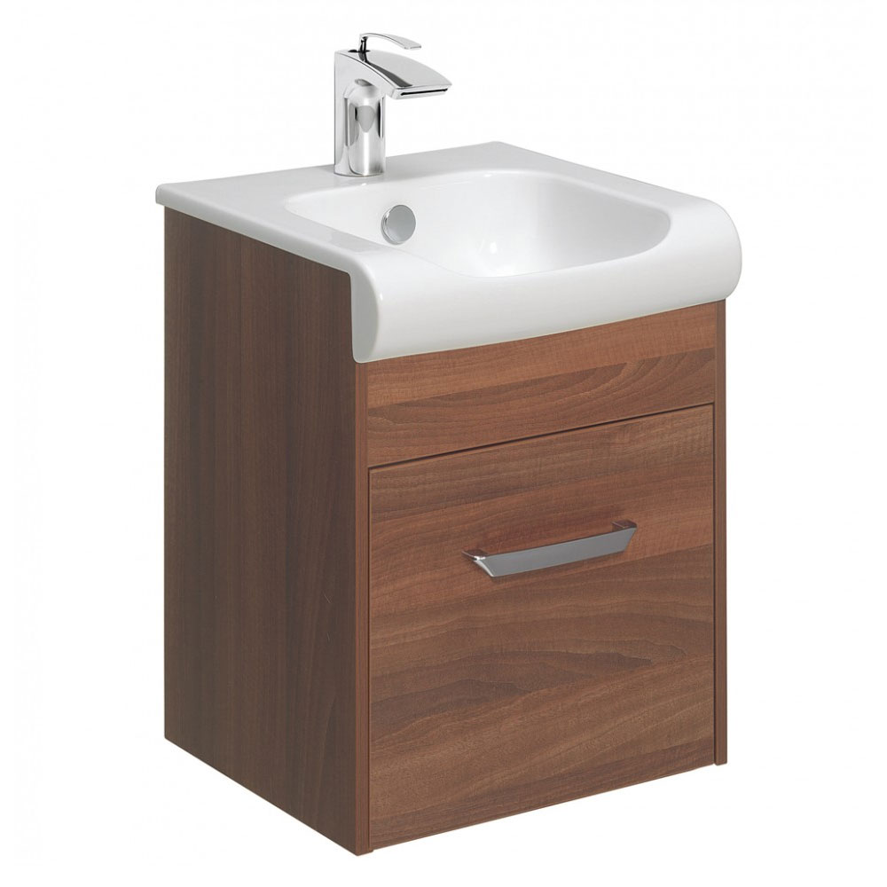 Bauhaus - Essence Unit & Basin - Walnut - 3 size options Large Image