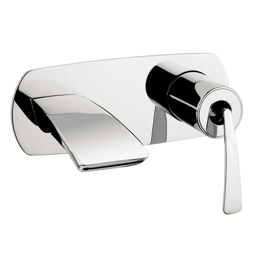 Crosswater - Essence Wall Mounted 2 Hole Set Basin Mixer - ES121WNC Large Image