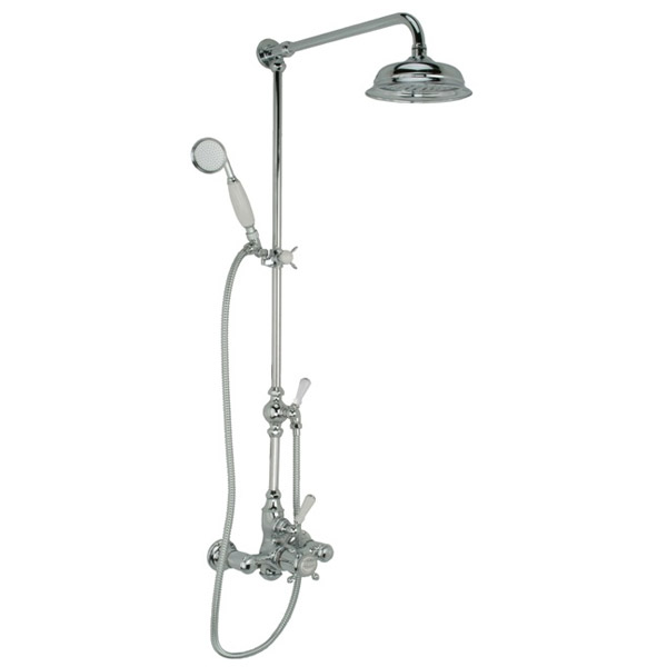 Hollys of Bath Exposed Thermostatic Chrome Shower w/ Hand Shower - ES2-8 Large Image