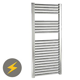 Reina Diva H800 x W600mm Chrome Flat Electric Towel Rail