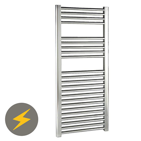 Reina Diva Chrome Flat Electric Towel Rail H600 x W300mm