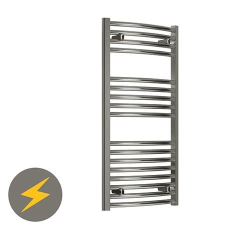 Reina Diva H800 x W400mm Chrome Curved Electric Towel Rail