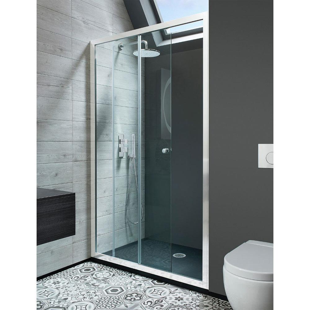 Crosswater - Edge Single Slider Shower Door - Various Size Options