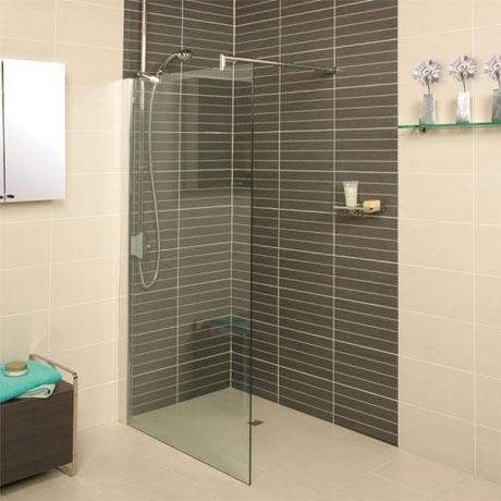Roman - Embrace Clear Glass Corner Wetroom Panel - Various Size Options