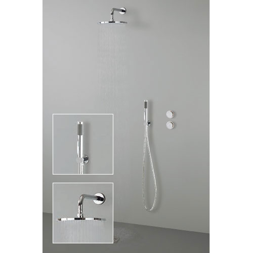 Crosswater Digital Esprit Duo Shower with Hand Shower and Wall Mounted Fixed Round Showerhead Large Image