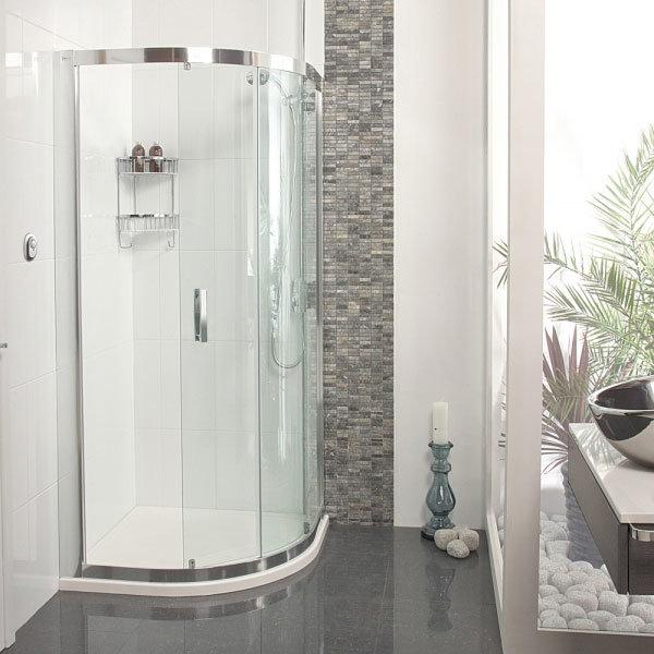 Roman - Embrace Single Door Quadrant Shower Enclosure - 2 Size Options profile large image view 1