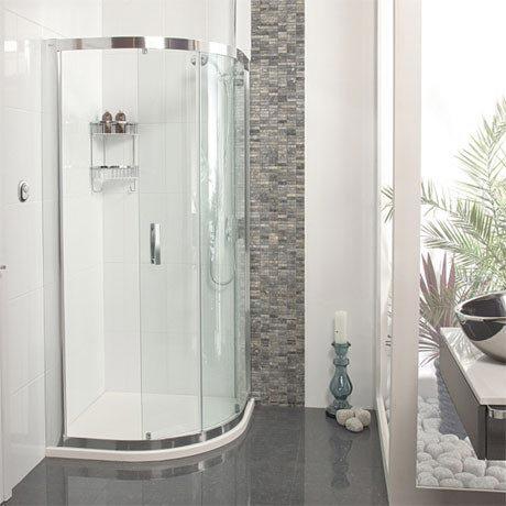 Roman - Embrace Single Door Quadrant Shower Enclosure - 2 Size Options