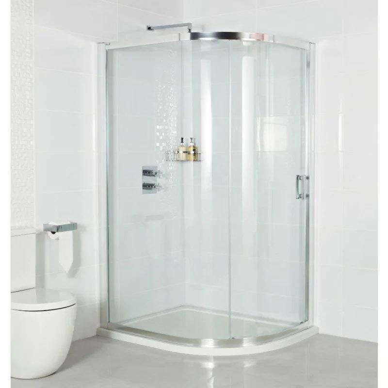 Roman Embrace Single Door Offset Quadrant Shower Enclosure - Various Size Options