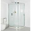 Roman Embrace Single Door Offset Quadrant Shower Enclosure - Various Size Options profile small image view 1