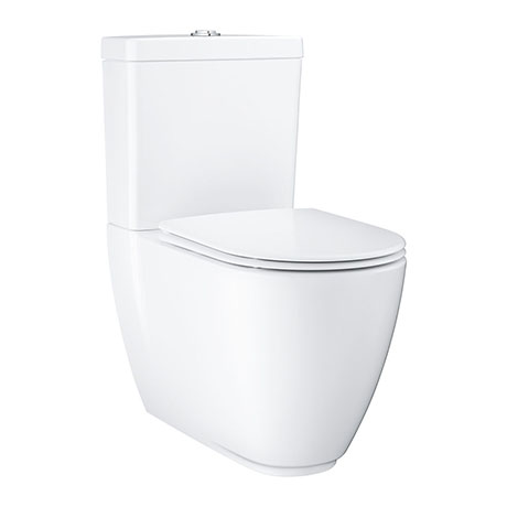 Grohe Essence Rimless Close Coupled Toilet with Soft Close Seat (Bottom Inlet)