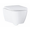 Grohe Essence Rimless Wall Hung Toilet with Soft Close Seat profile small image view 1