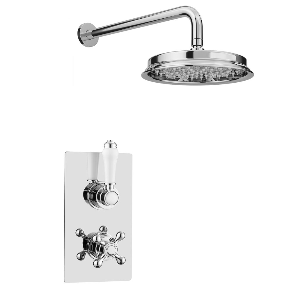 """Thames Traditional Shower Package with Concealed Valve + 8"""" AirTec Head"""