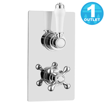 Thames Traditional Twin Concealed Thermostatic Shower Valve Medium Image
