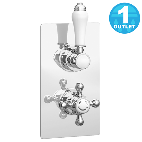 Thames Traditional Twin Concealed Thermostatic Shower Valve