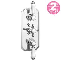 Trafalgar Traditional Triple Concealed Thermostatic Shower Valve Medium Image