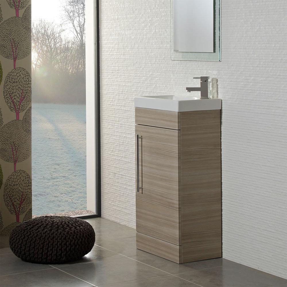 Roper Rhodes Esta 450mm Cloakroom Unit - Pale Driftwood profile large image view 2
