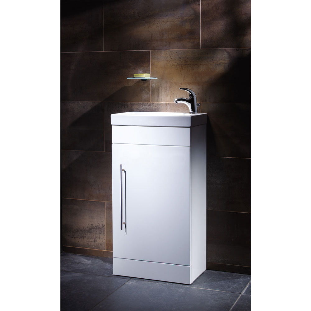 Roper Rhodes Esta 450mm Cloakroom Unit - Gloss White profile large image view 2