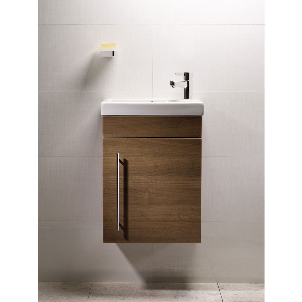 Roper Rhodes Esta 450mm Cloakroom Wall Mounted Unit - Walnut profile large image view 2