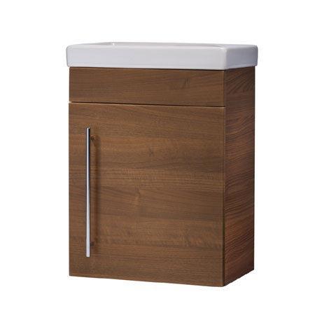 Roper Rhodes Esta 450mm Cloakroom Wall Mounted Unit - Walnut
