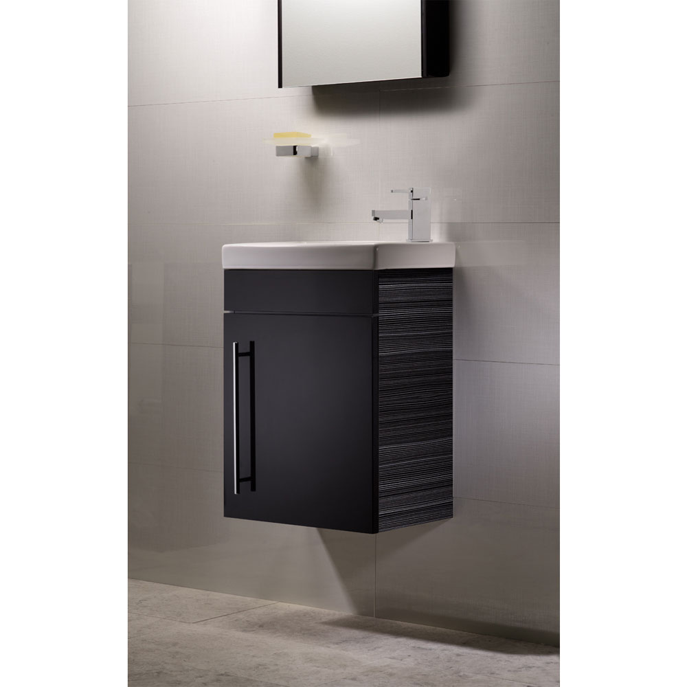 Roper Rhodes Esta 450mm Cloakroom Wall Mounted Unit - Anthracite profile large image view 2