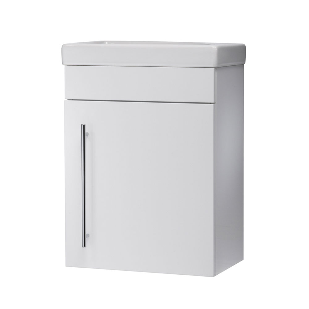 Roper Rhodes Esta 450mm Cloakroom Wall Mounted Unit - Gloss White profile large image view 1