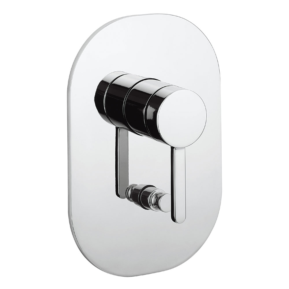 Crosswater - Ethos Concealed Manual Shower Valve with Diverter - ET0005RC profile large image view 1