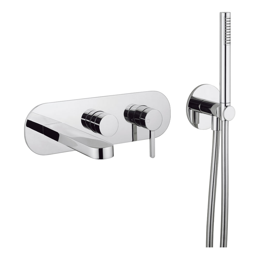 Crosswater Ethos Wall Mounted 3 Hole Bath Shower Mixer