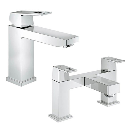Grohe Eurocube Tap Package (Bath + Basin Tap)