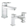 Grohe Eurocube Tap Package (Bath + Basin Tap) profile small image view 1
