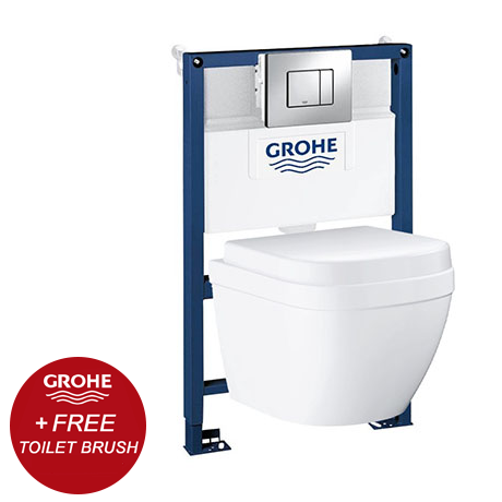 Grohe Rapid SL 0.82m Frame / Euro Compact Rimless Complete WC 5 in 1 Pack + FREE GIFT PROMOTION