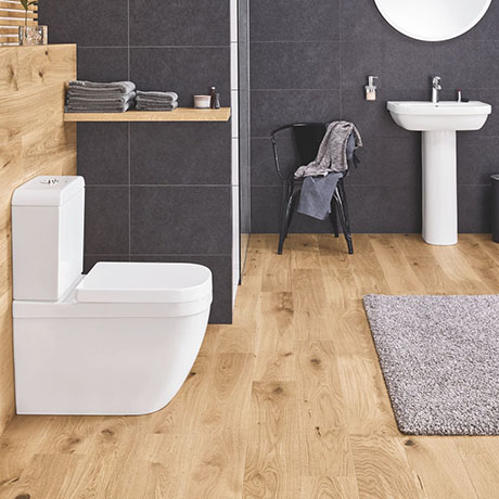 Grohe Euro 4-Piece Bathroom Suite (Basin + Rimless Toilet)