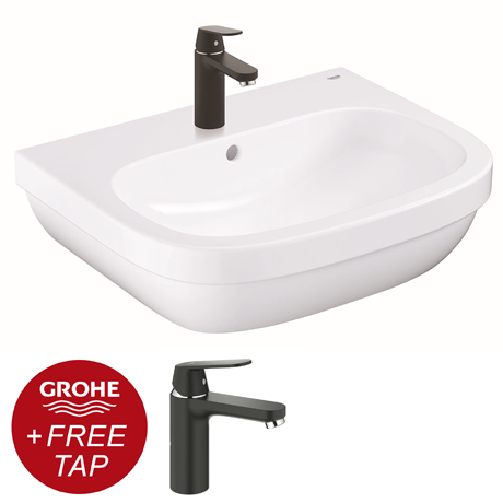 Grohe Euro Ceramic Complete Tap and Basin Package