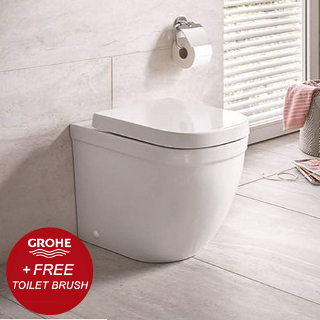 Grohe Euro Rimless Back to Wall Toilet with Soft Close Seat + FREE GIFT PROMOTION