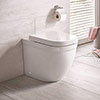 Grohe Euro Rimless Back to Wall Toilet with Soft Close Seat profile small image view 1