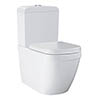 Grohe Euro Rimless Close Coupled Toilet with Soft Close Seat (Bottom Inlet) profile small image view 1