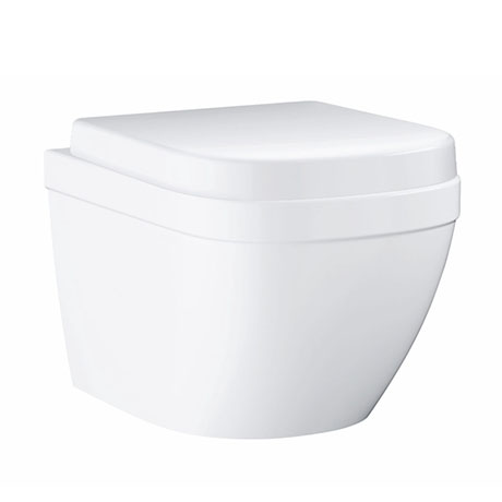 Grohe Euro Compact Rimless Wall Hung Toilet with Quick Release Seat