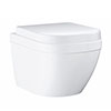 Grohe Euro Compact Rimless Wall Hung Toilet with Soft Close Seat profile small image view 1